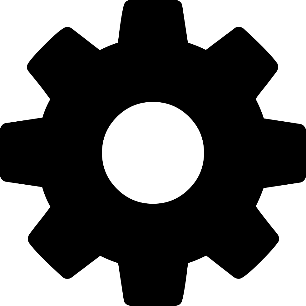 Gears clipart engineering symbol. Gear svg png icon