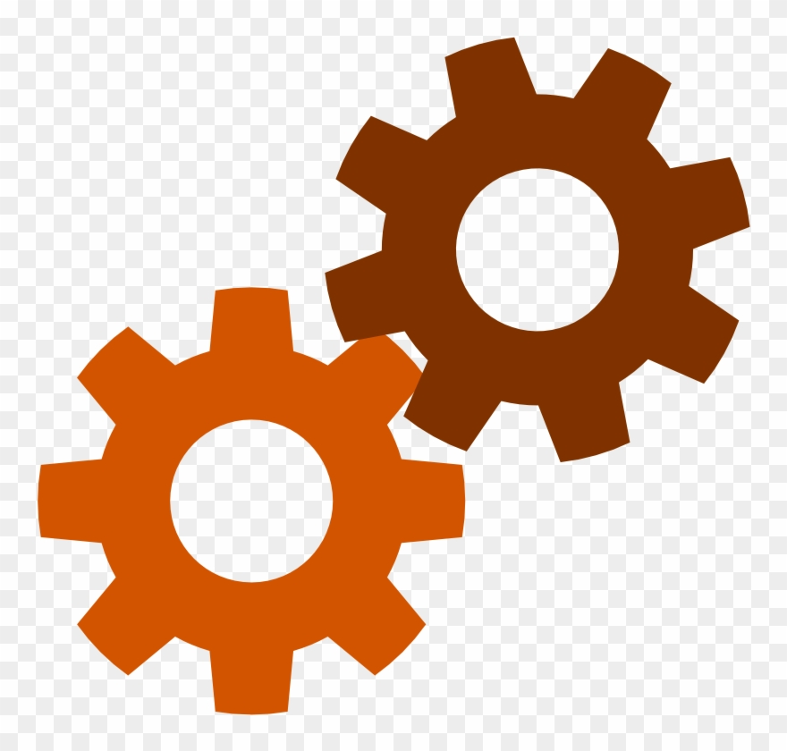 Gears clipart gear shape. Computer icons download symbol