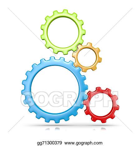 Stock illustration gears illustrations. Gear clipart four