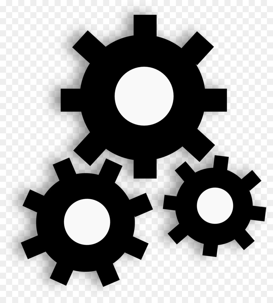 Gear clipart functionality. Black circle font transparent