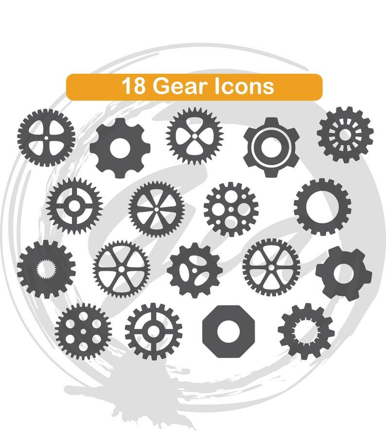 Steampunk svg gears monogram. Gear clipart gear frame