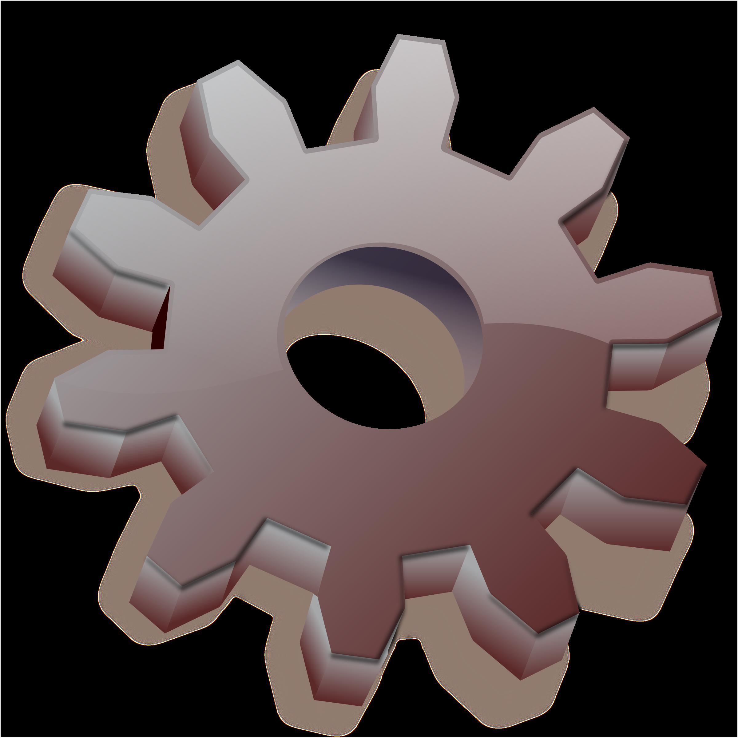 Gear icon. Gears clipart grey