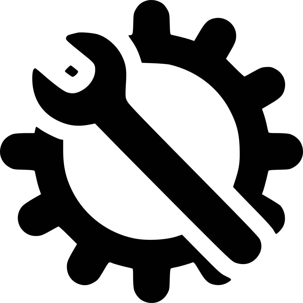 Gear clipart gear icon. Wrench svg png free