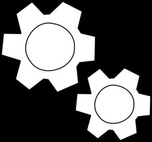 Gear clipart gear outline. Gears clip art at