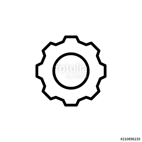 The icon of simple. Gear clipart gear outline