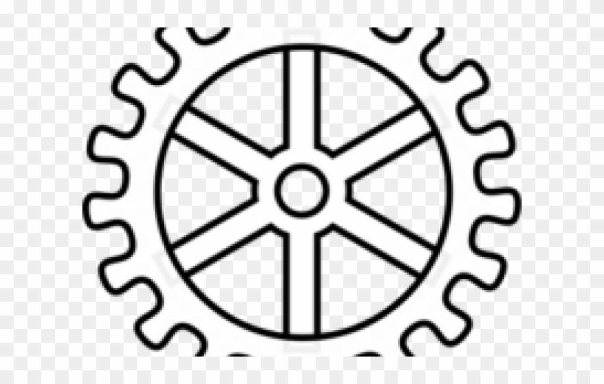 Gears roue dent e. Gear clipart gear outline