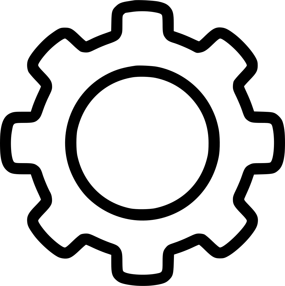 Svg png icon free. Gear clipart gear outline