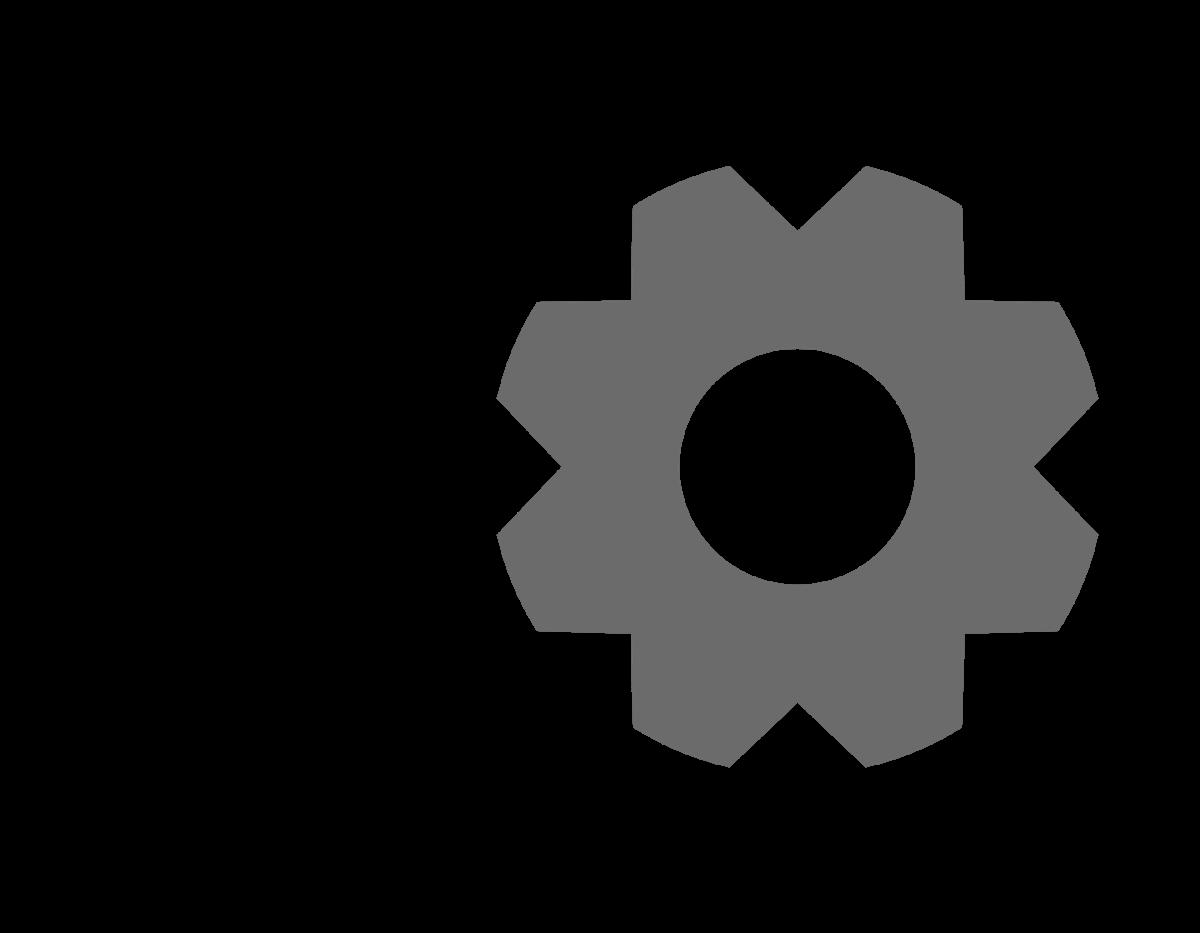Gear clipart gear shape. How to make a