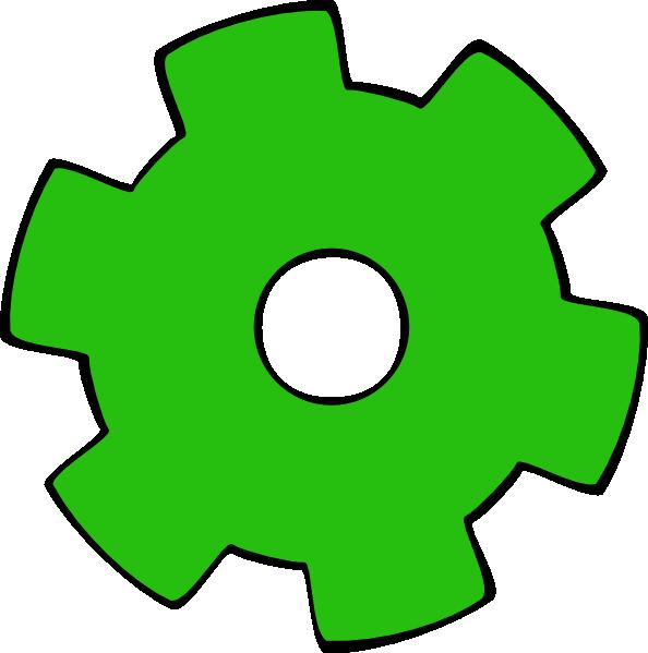 Gears clipart green. Gear clip art at