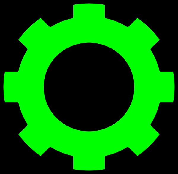 Gear clip art at. Gears clipart green