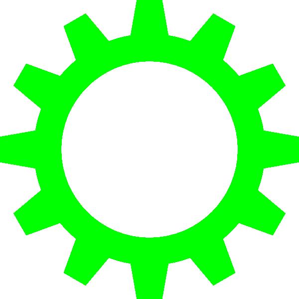 Cog wheel clip art. Gears clipart green
