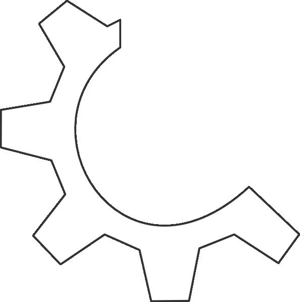 Gear clipart half gear. White clip art at