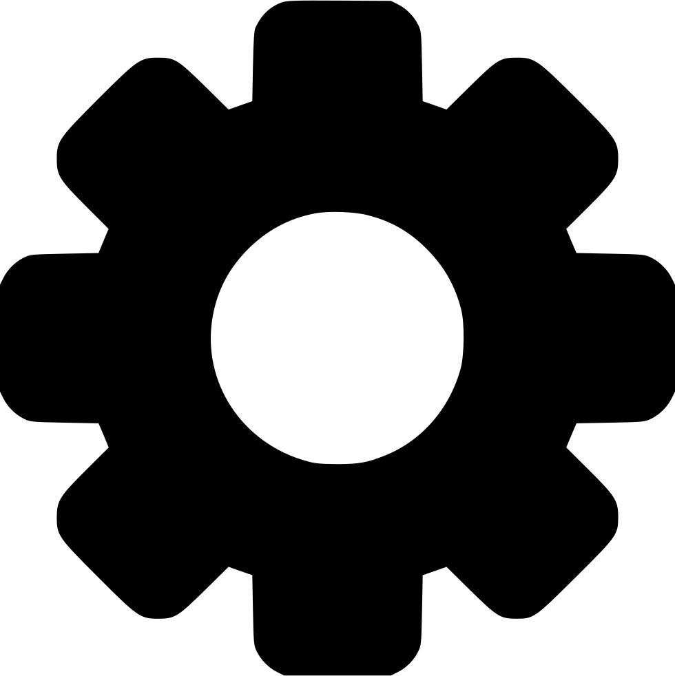 Cog svg png icon. Gear clipart half gear