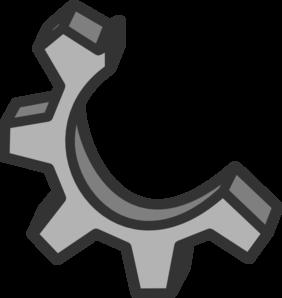 Gear clipart half gear. Clip art at clker