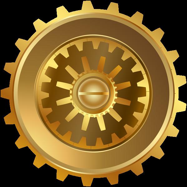 Steampunk gear png clip. Gold clipart gears
