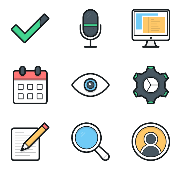 Icons free vector miscellaneous. Gear clipart illustrator