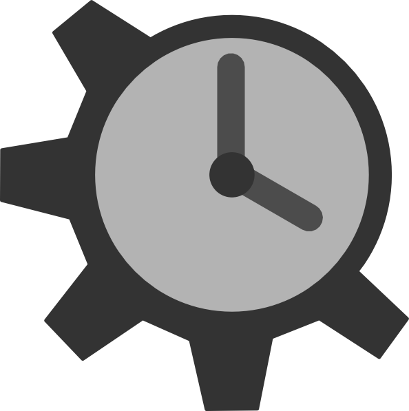 Gear clipart illustrator. Clock vector spojivach info