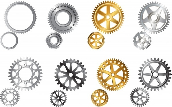 Gear clipart illustrator. Free vector download for