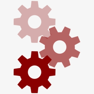 Mechanical engineering computer icons. Gear clipart manufacturing
