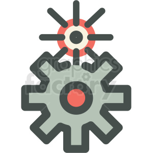 Gear clipart manufacturing. Cog gears icon royalty