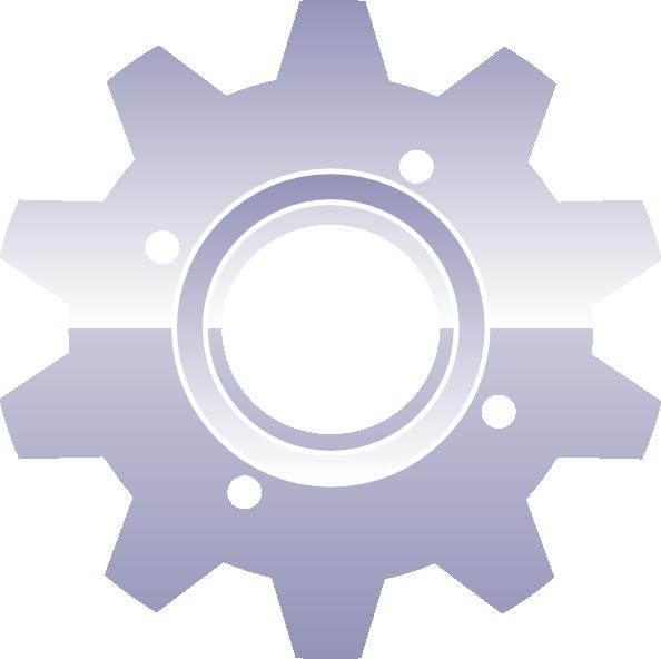 Gear clipart metallic. Clip art at clker