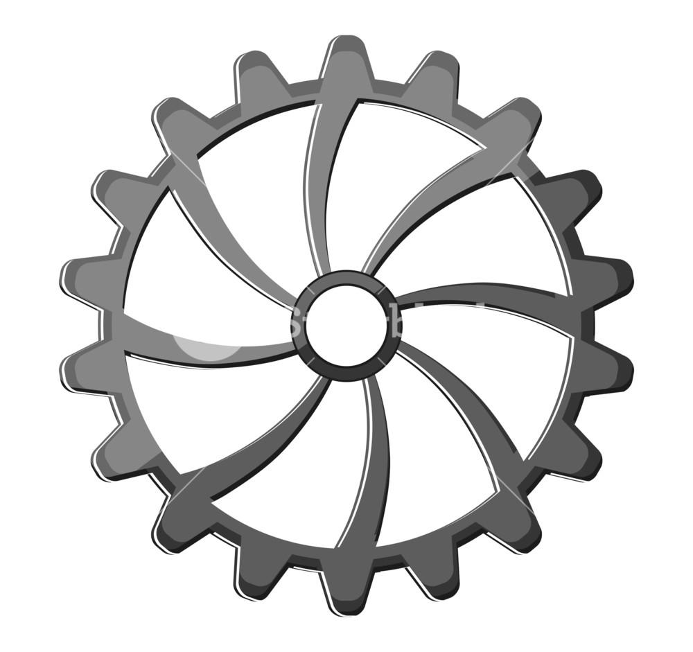 Gear clipart metallic. Shiny wheel royalty free