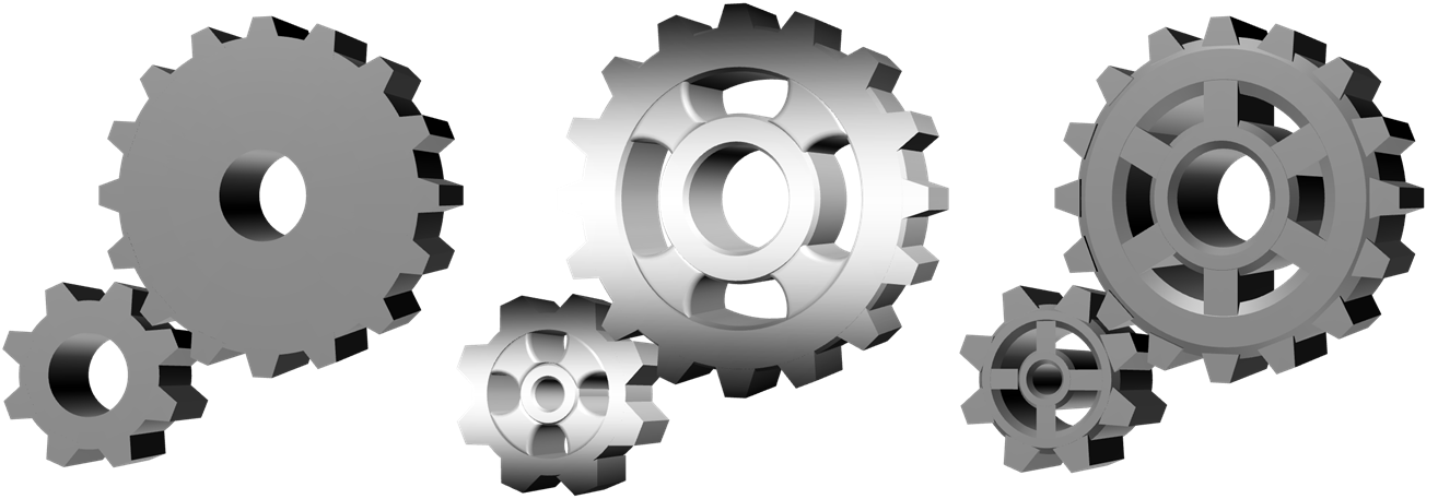 Drawing and animating gears. Gear clipart metallic