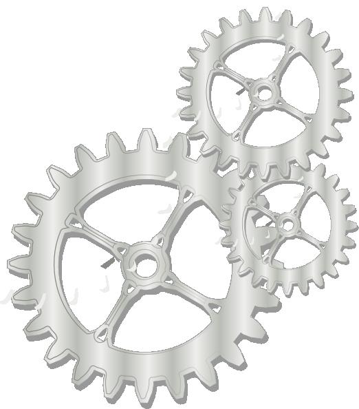 Gears clip art at. Gear clipart metallic