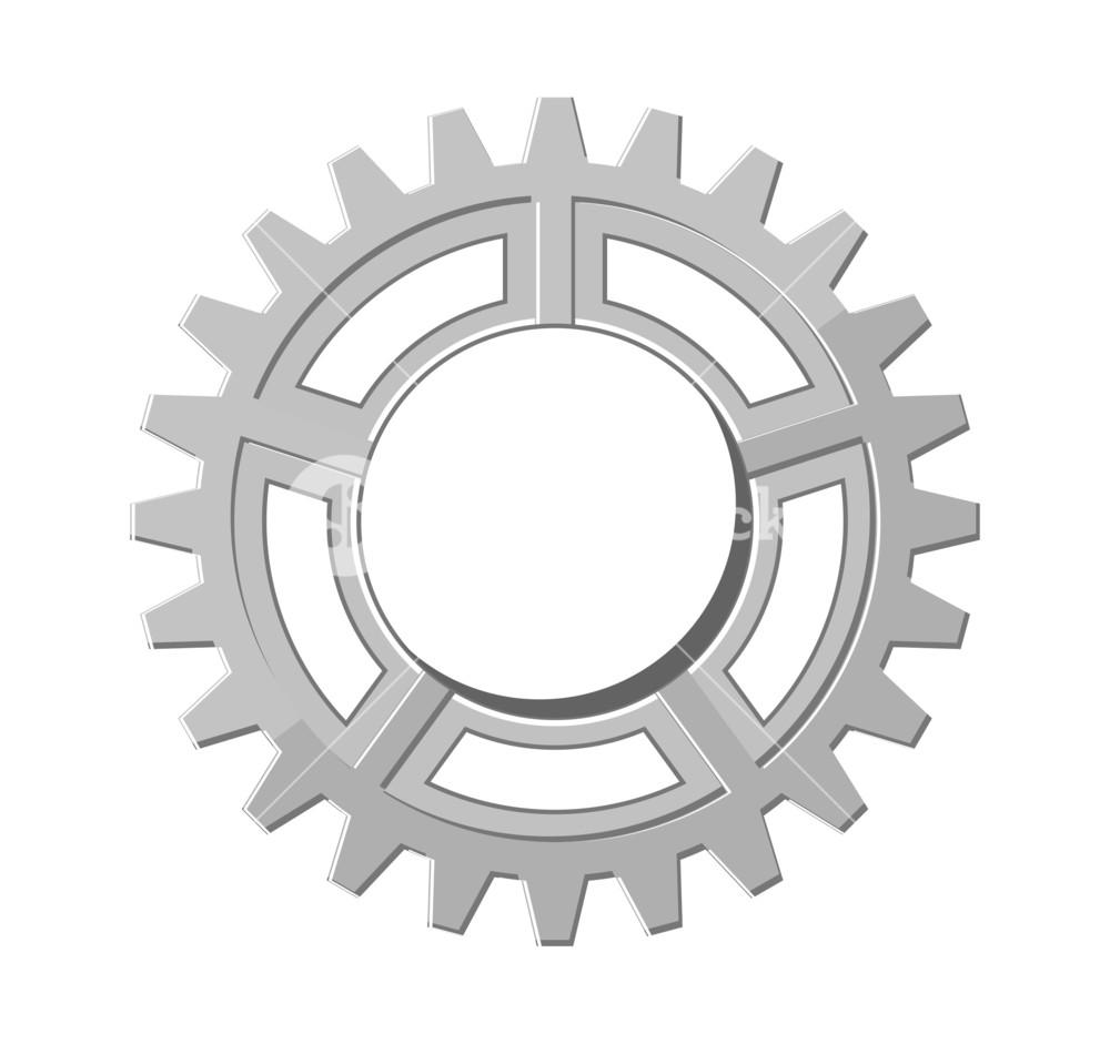 Vintage wheel royalty free. Gear clipart metallic