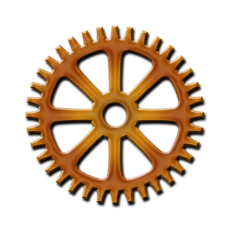 Gear png hd mart. Steampunk clipart cog