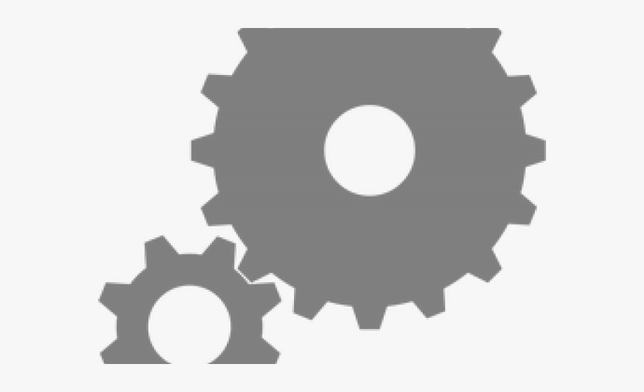 Gears clipart parameter. Two cliparts cartoons