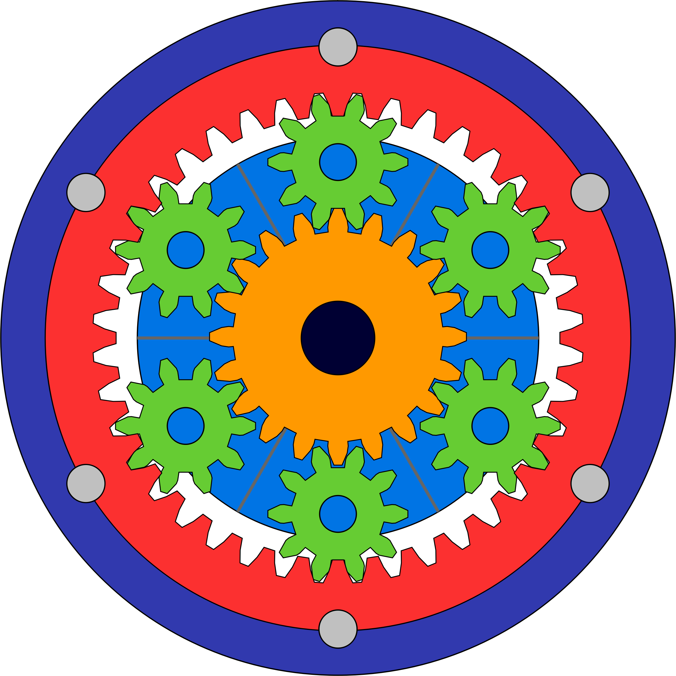 Gear set big image. Gears clipart animated