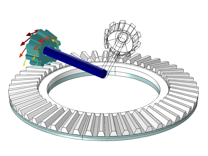 Gears clipart parameter. Multibody dynamics module bevelgearpair
