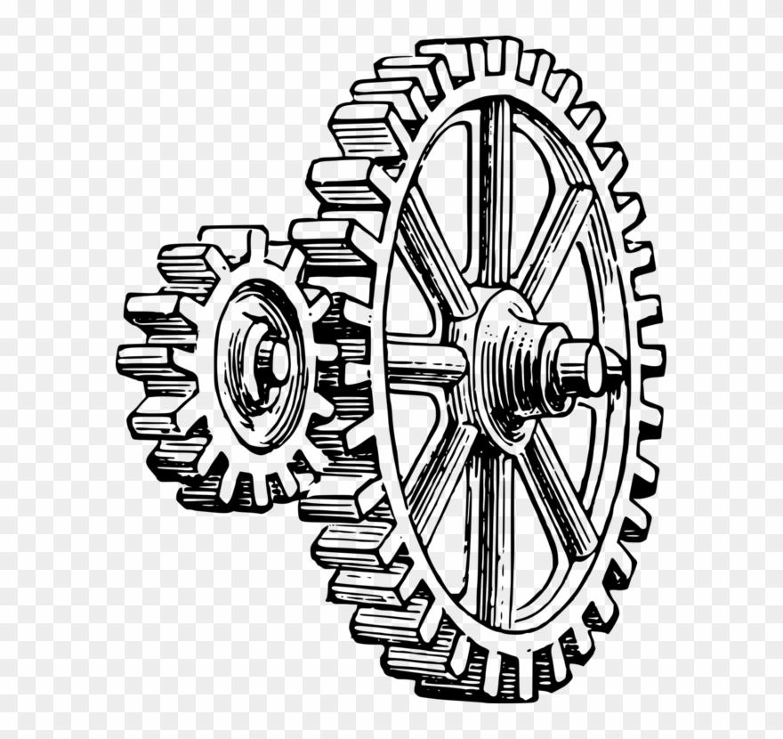 Gears clipart pulley gear. Drawing zentangles art simple