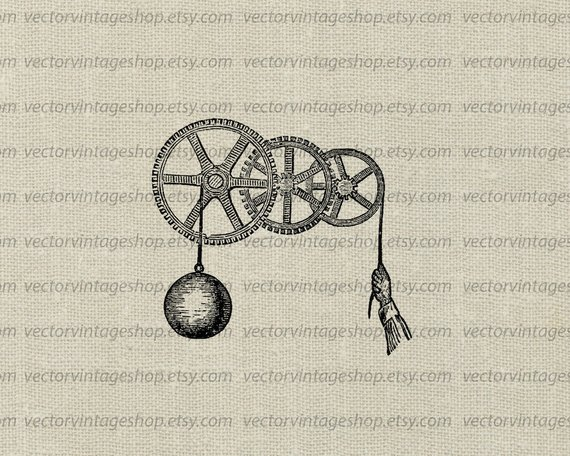 Vector graphic instant download. Gears clipart pulley gear