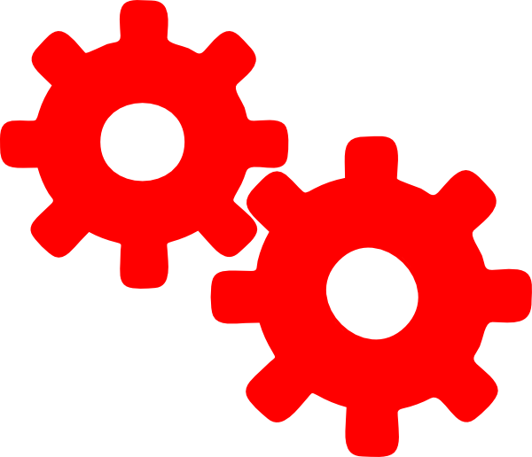 Clip art at clker. Gear clipart red