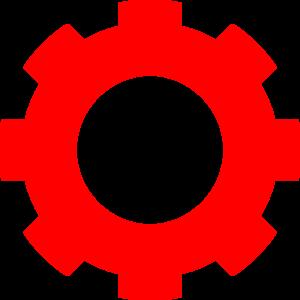 Clip art at clker. Gear clipart red