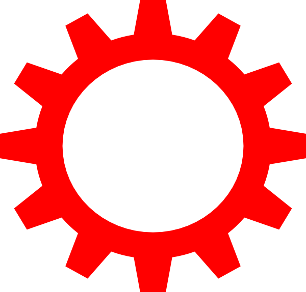 High resolution clip art. Gear clipart red