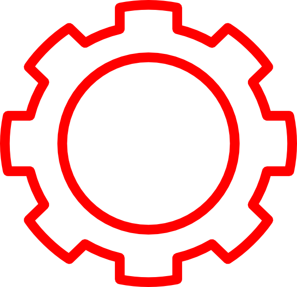 Gear clipart red. Read clip art at