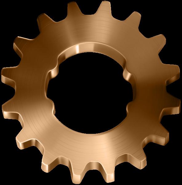 Gold clipart gears. Copper gear transparent clip