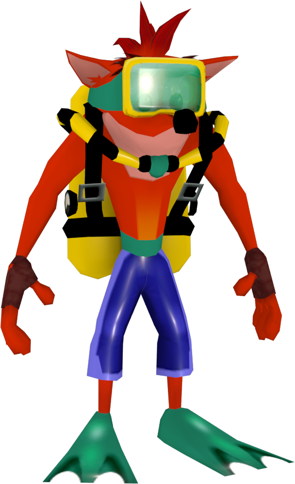 Image crash bandicoot the. Gear clipart scuba