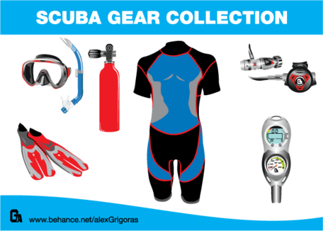 Free collections and vector. Gear clipart scuba