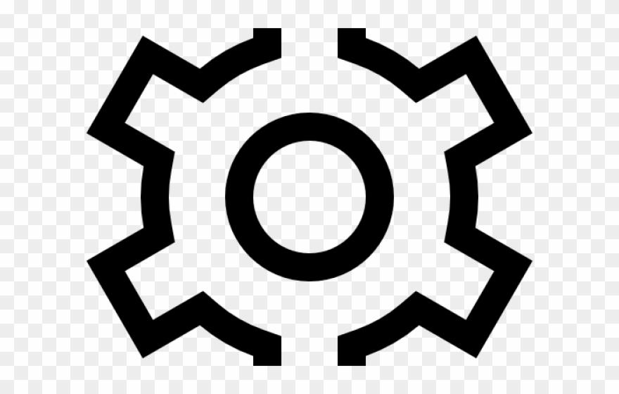 Gears outline windows settings. Gear clipart setting