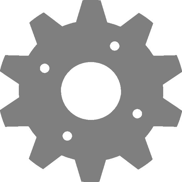 Grey clip art at. Gear clipart setting