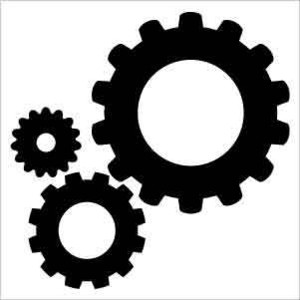 Gear clipart silhouette.  clip art clipartlook