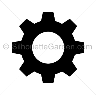 Gear clipart silhouette. Images gallery for free
