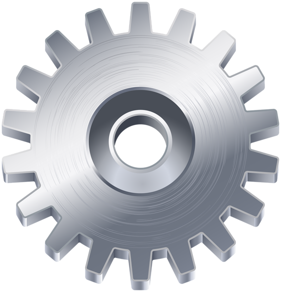 Gear clipart silver. Clip art png image