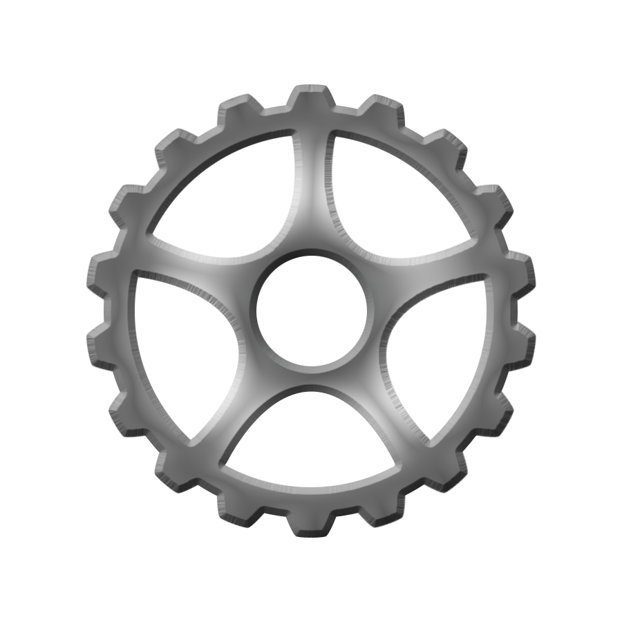 Gear clipart silver.  png cliparts co