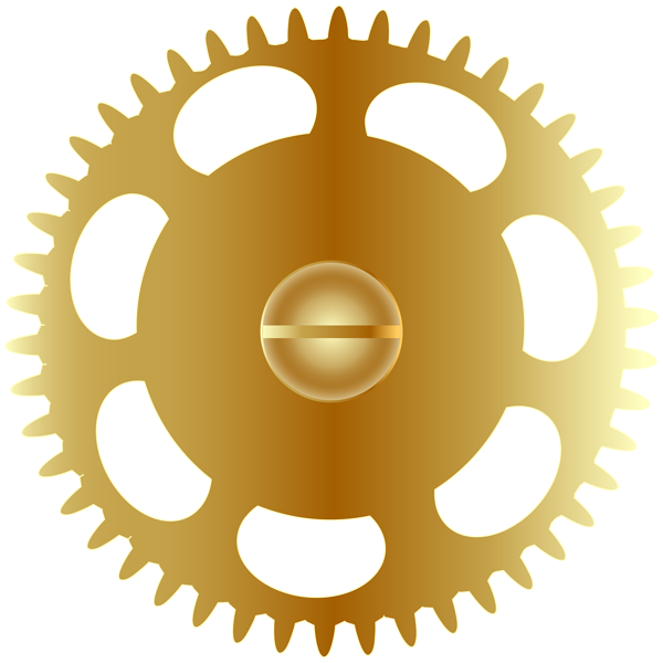 Gear clipart silver. Gold steampunk png clip