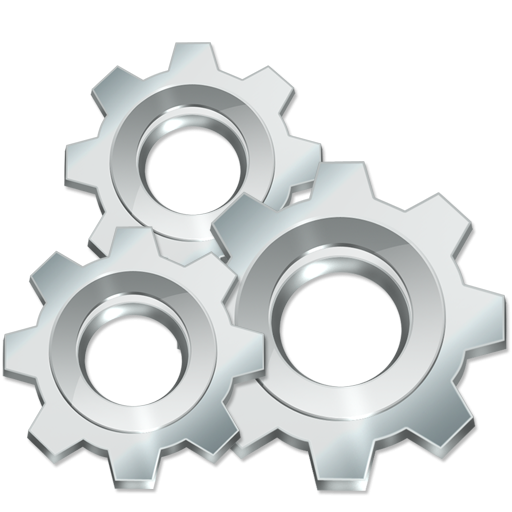 Gears icon png image. Gear clipart silver